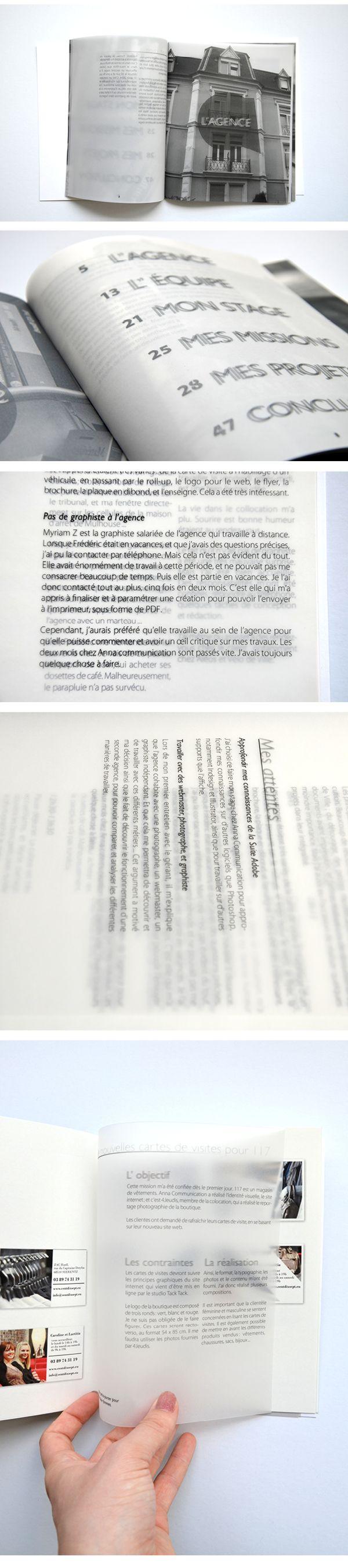 LEICHTNAM Anne - Rapport de stage dans une agence de communication - blur reading - 2015