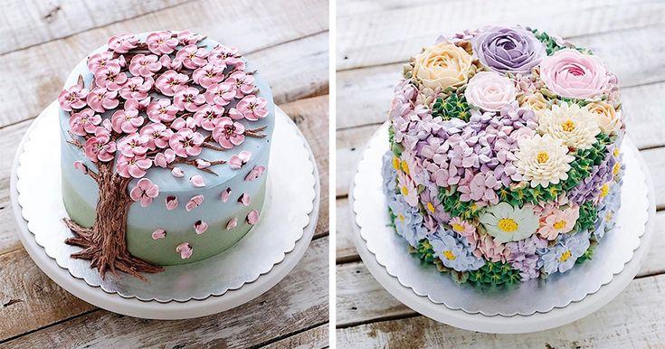 40 πανέμορφες λουλουδένιες τούρτες που γιορτάζουν τον ερχομό της άνοιξης