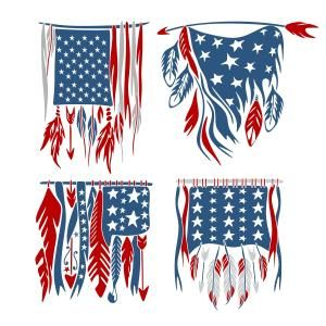 {Daily FREE Cut File} USA American Feather Flag - Available for FREE today only, July 5