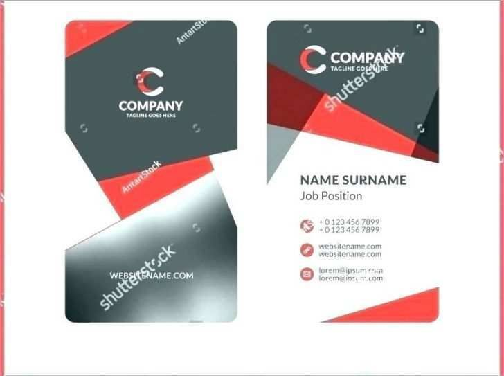 48 Standard 2 Sided Business Card Template Word In Photoshop Regarding Best Free 2 Sided B Vertical Business Card Template Business Card Template Card Template