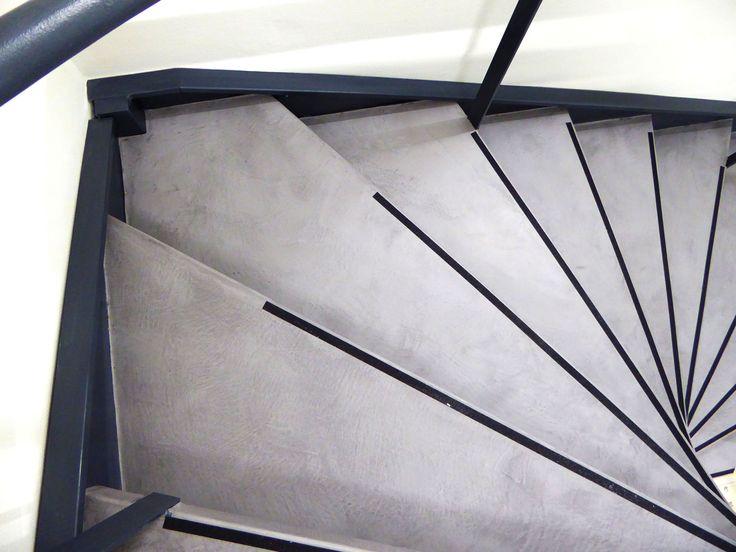 17 meilleures id es propos de escalier beton cir sur. Black Bedroom Furniture Sets. Home Design Ideas