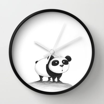 Panda Wall Clock by Francesca Cosanti - $30.00