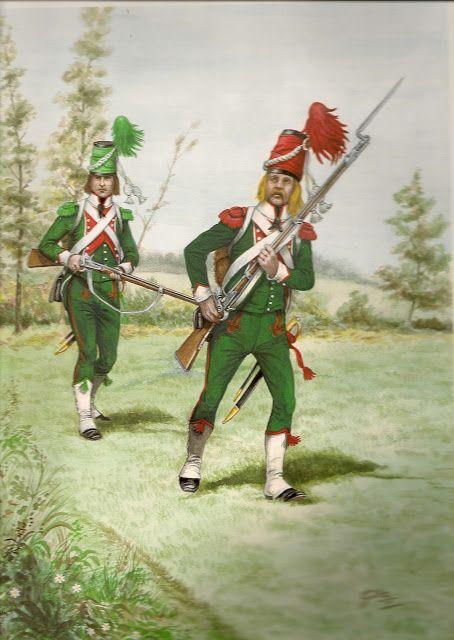 Fanteria leggera Carabiniere e cacciatore 1799