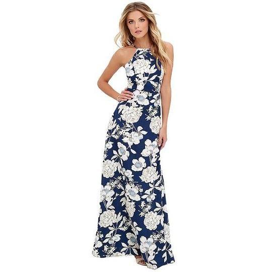 2019 Sommer Blumendruck langes Kleid plus Größe 5XL Frauen Maxi Dressrricdress