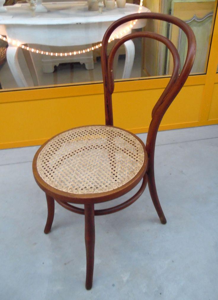 Sedia thonet in faggio seduta in paglia di Vienna