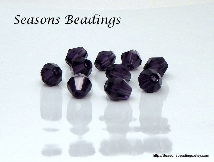 Excited to share the latest addition to my #etsy shop: 50 Translucent Dark #Purple 6mm #Crystal #Bicone Beads - #FreeShipping to Canada http://etsy.me/2ChRm8k #supplies #jewelrymaking #bead #crystalbead #homebusiness