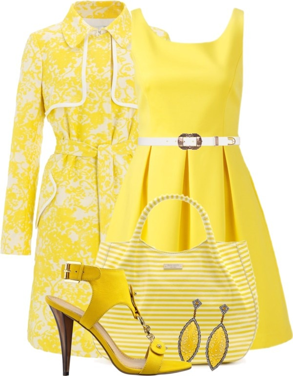 """""""Monochrome Yellow"""" by stylesbyjoey on Polyvore"""