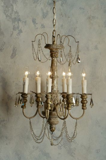 Cosette Chandelier Wood Crystal Iron Soft Surroundings Thompson Cottage Pinterest Lighting And