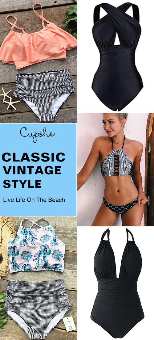 Treat Yourself to Something Special. Probably, you are always waiting for a style-reverse chance. So this is! Try these vintage style swimsuits, girls! Leave your wonderful silhouette on the beach & by the pool. FREE SHIPPING! Check them out!