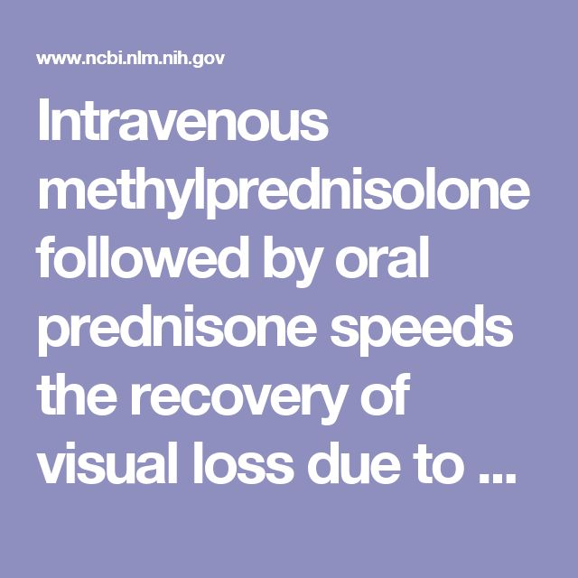 Intravenous methylprednisolone followed by oral prednisone speeds the recovery of visual loss due to optic neuritis and results in slightly better vision at six months. Oral prednisone alone, as prescribed in this study, is an ineffective treatment and increases the risk of new episodes of optic neuritis.