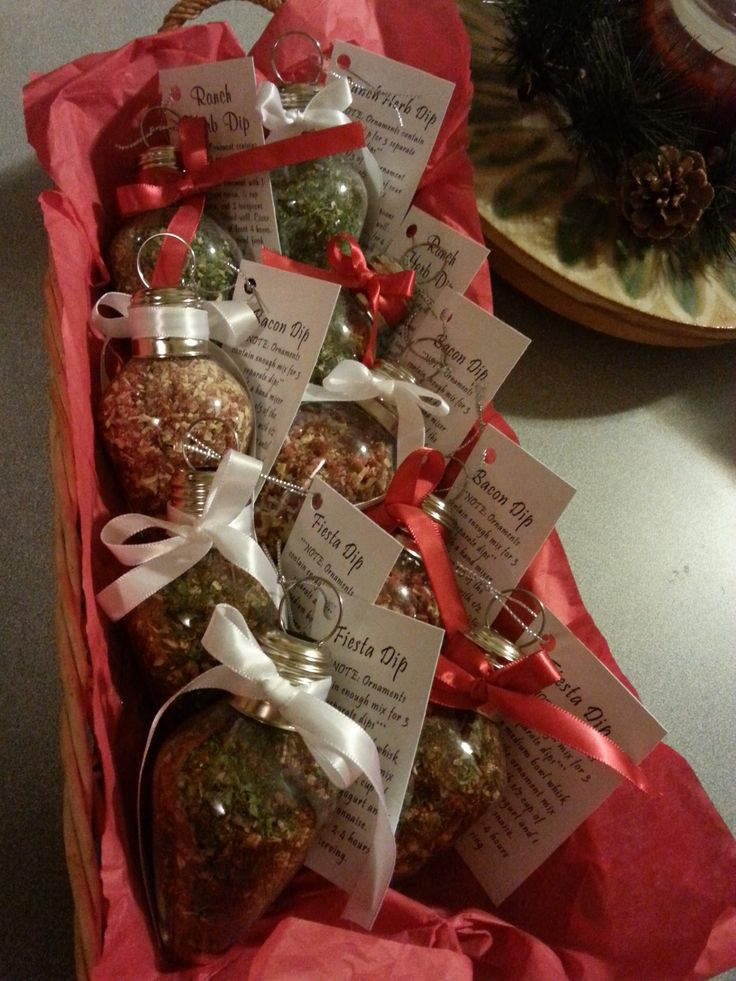 Dip Mix Ornaments Great gift and was easy to make