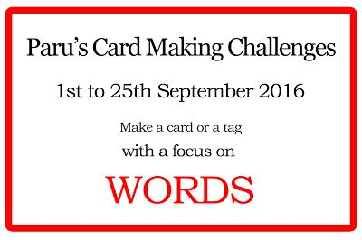 Paru's Card Making Challenges: September challenge