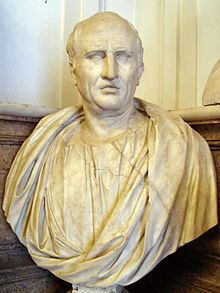 Bust of Cicero, the symbol of Latin literature (Capitoline Museums, Rome).