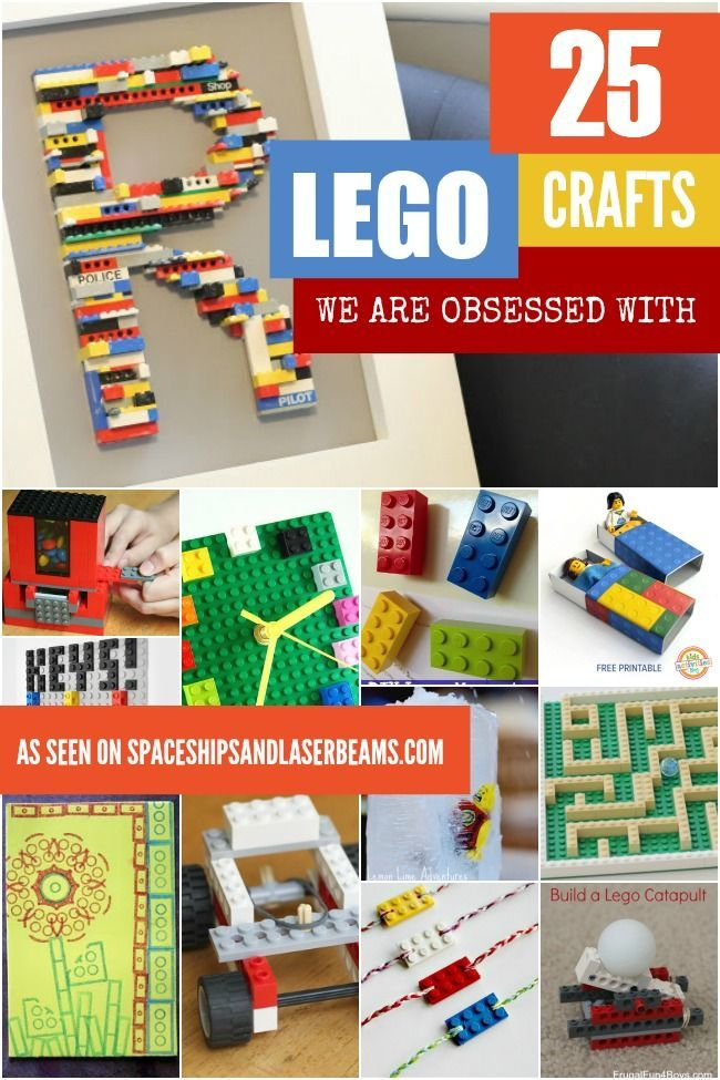 25 Lego Crafts We are Obsessed With - Spaceships and Laser Beams