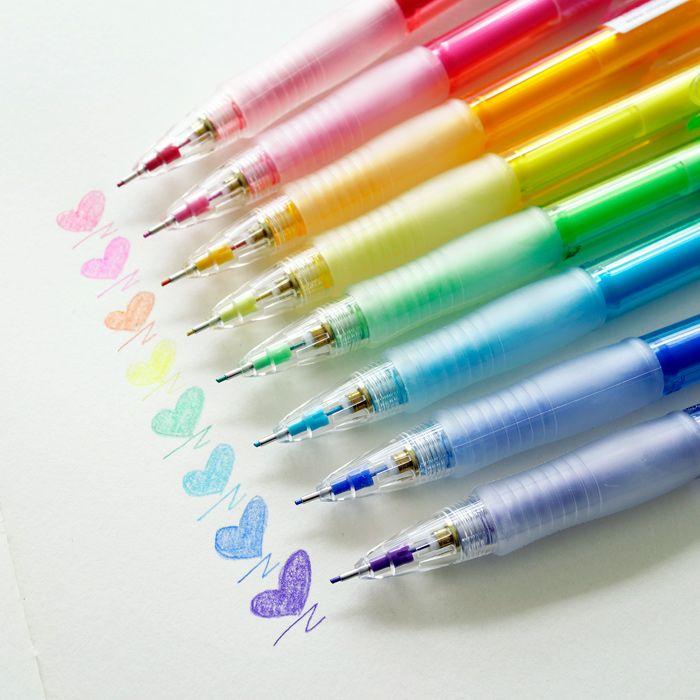 Japão desenhos animados desenhados à mão Tupper Erasable lápis de cor caneta 0.7 mm em Lápis Mecânicos de Escritório & material escolar no AliExpress.com | Alibaba Group