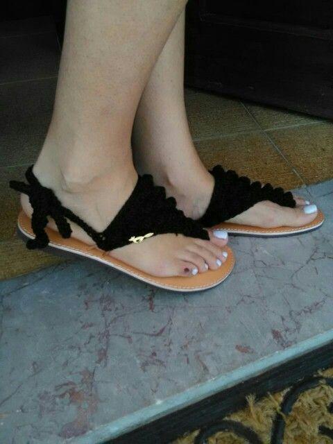 Sandals crochet # model maria#vfox