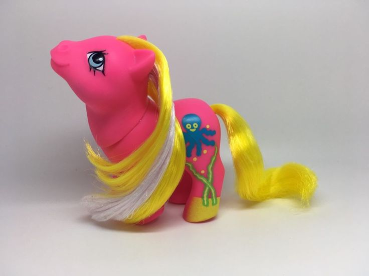Vintage My Little Pony G1 Hasbro MLP ~ BABY SPLOSH ~ SEASIDE BABY ~ EURO UK