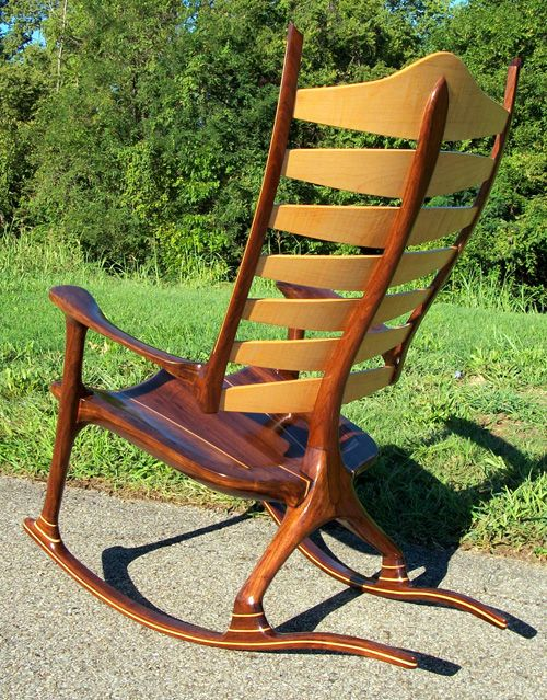 This Stunning And Extraordinary Wooden Rocking Chair Is Called The Bonn  Zero G. It Is The Result Of Years Of Ergonomic Research And Development,  Bleu2026