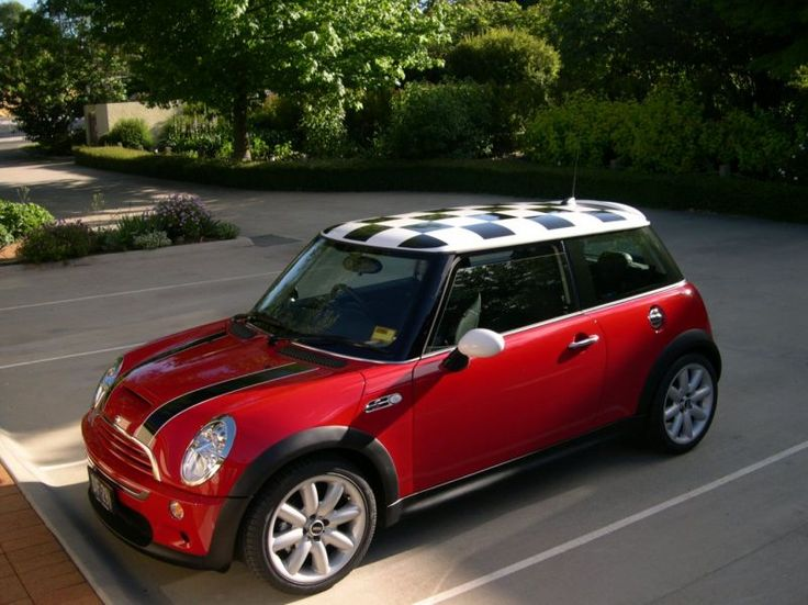 Mini Cooper Roofs Mini With A Checkered Roof Mini