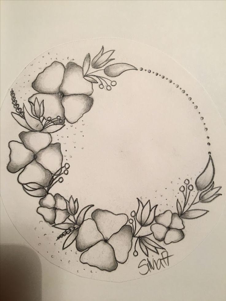 Blumen Blumenkranz Tattoo idea  Zeichnungen  Mandals