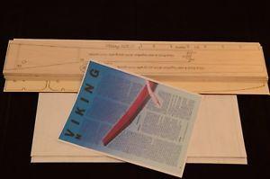 a rc glider viking mk ii laser cut short kit plans instruction 118 in wingspan