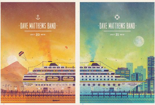 Dave Matthews Band by DKNG. See more great gig posters here: http://www.creativebloq.com/design/gig-posters-912720