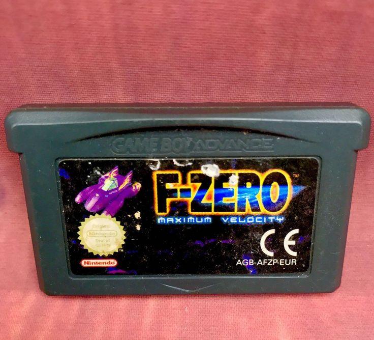 Gameboy Advance Game F-zero Maximum Velocity Vintage Retro Nintendo Agh-adze Eur