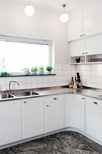 Functional kitchen in Södra Ängby, Sweden.