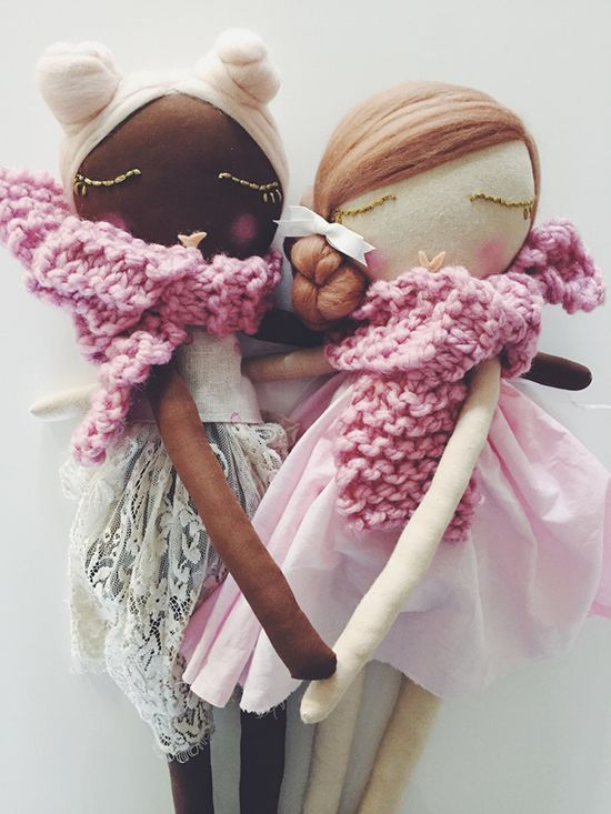 I suppose the official term for these beauties is rag dolls. But I have a hard time putting those words with these dolls! Reminding me of very refined dolls by Jess Brown, these sweethearts from Dollface are a tad bit more affordable. Also, they have a little more glitter and whimsy that's extra endearing to the …