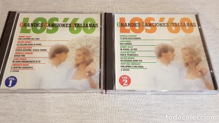 Los Años 60 Grandes Canciones Italianas 2 Cds Perfil 30 Temas Precintados Canciones Temas Cds