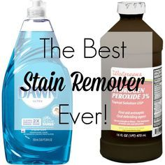 best homemade stain remover dawn peroxide clothing delicate