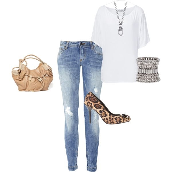 jeans and tshirt, created by kymwray on Polyvore