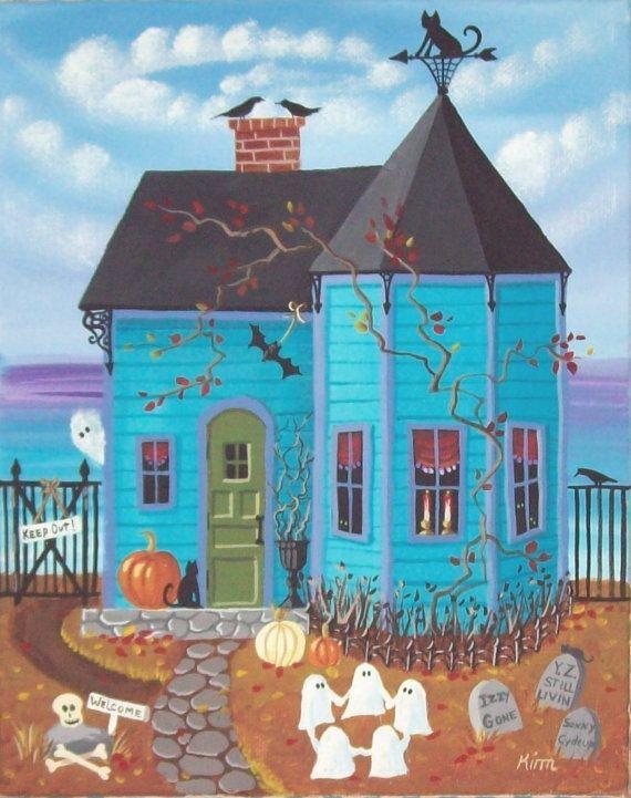 Bahía de palo negro casa arte popular impresión por KimsCottageArt