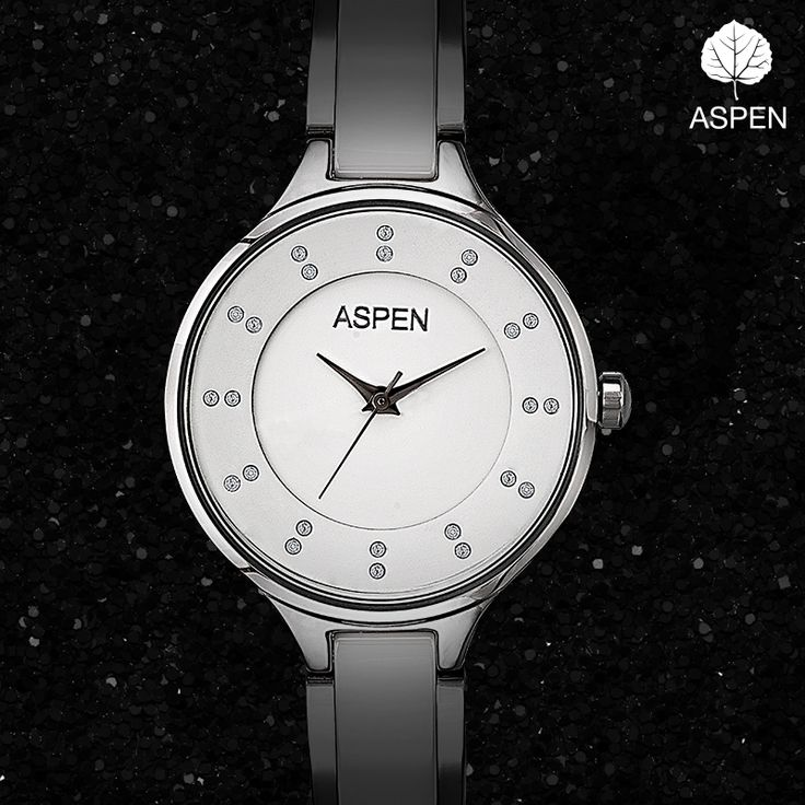 This classic metallic timepiece is the key to pulling off a great look.  #aspen #silver #watch #style