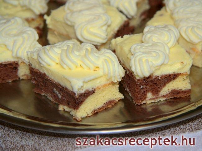 Krémszelet mascarpone-val • Recept   szakacsreceptek.hu