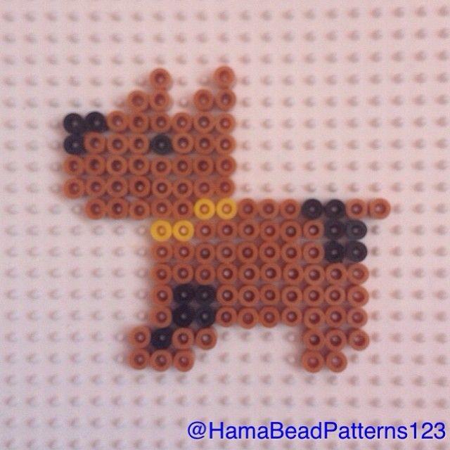 Hama bead dog by hamabeadpatterns123