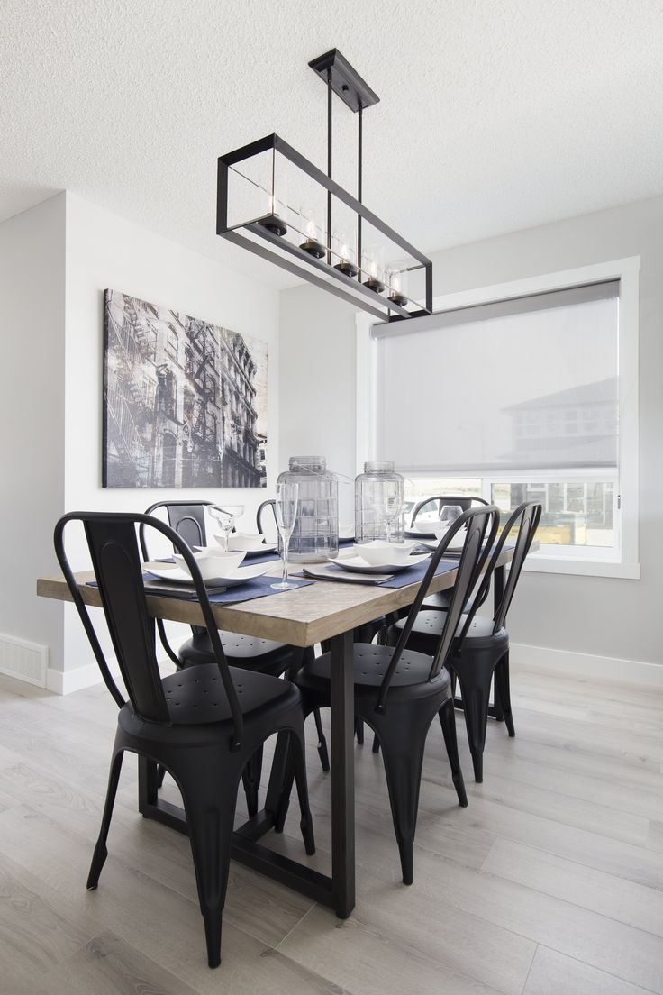 Dining nook in Creations by Shane Homes Arbor Duplex Showhome in Legacy in southeast Calgary #nook #diningnook #diningroom