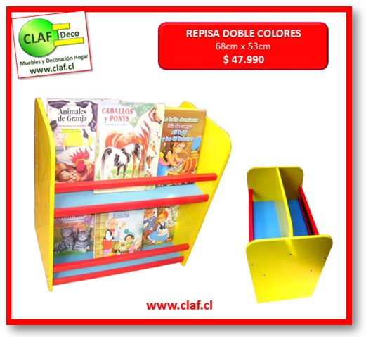 REPISA DOBLE COLORES www.claf.cl