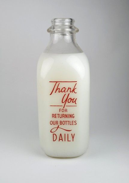 Plymouth Dairy Bottle from HoldTheWire -- lovely type