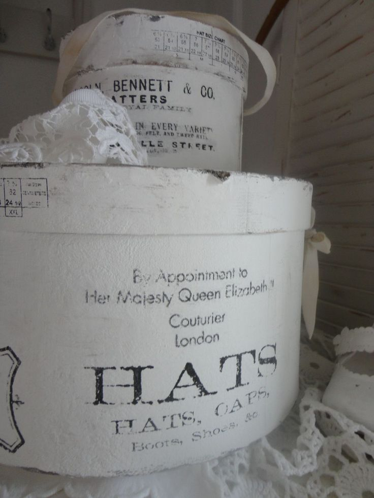 17 best images about hat boxes boxes on pinterest for Boite shabby chic