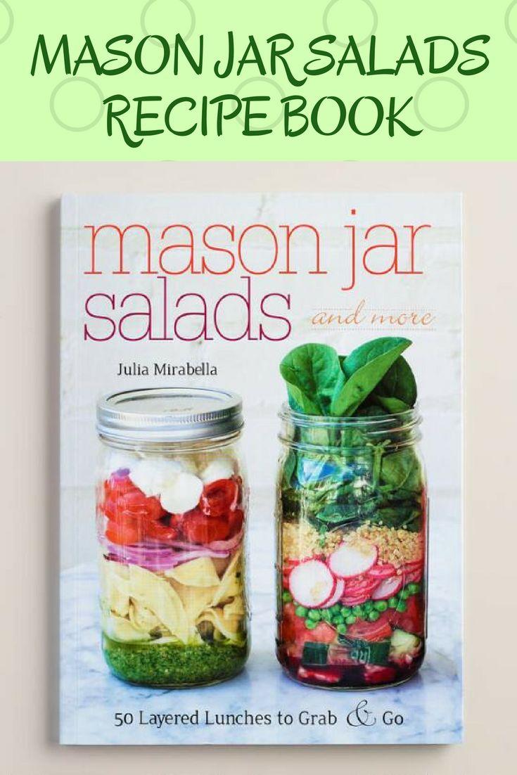 Mason Jar Salads Recipe Book #affiliate, #salads, #masonjar, #masonjarsalads, #lunch, #lunchideas