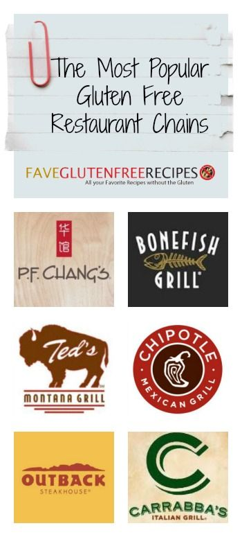 The Most Popular Gluten Free Restaurant Chains - researched and discussed so that your eating out experience is the best it can be!