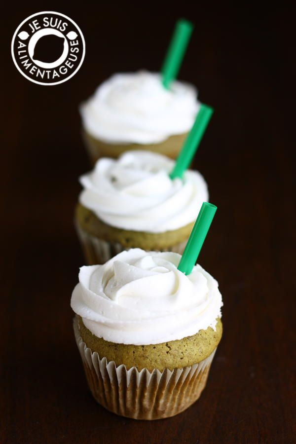 Inspired by Starbucks' Green Tea Frappucino, these cupcakes are vegan, fluffy, and are full of matcha flavour!