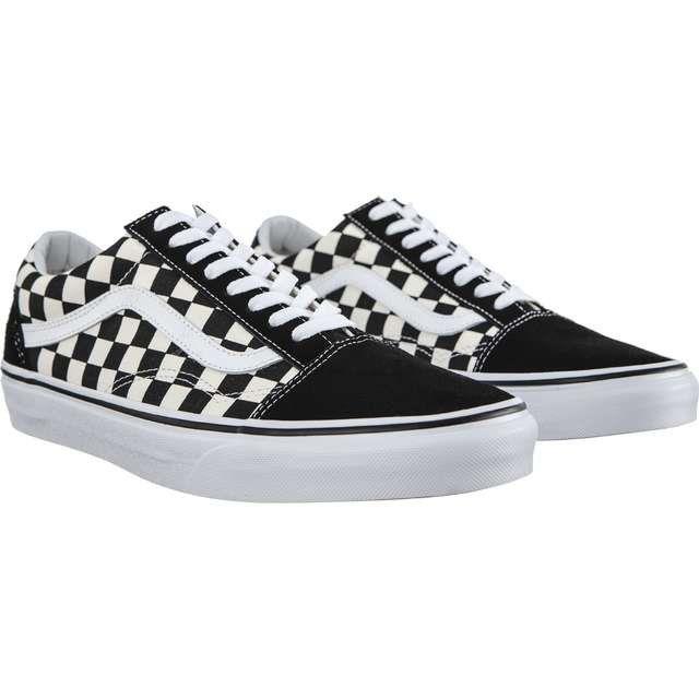 Trampki Damskie Vans Vans Old Skool P0s Black White Black And White Vans Vans Old Skool Black