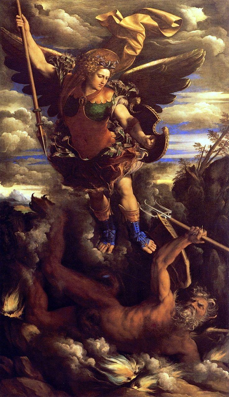 #ARTIST Giovanni di Niccolò de Luteri (Dosso Dossi) - EL TRIUNFO DE SAN MIGUEL ARCANGEL