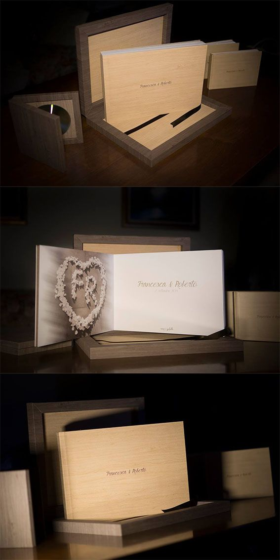 Complete #graphistudio weddingbook set with a #youngbook, two parent book and DVD, everything coordinated in Natural Maple.