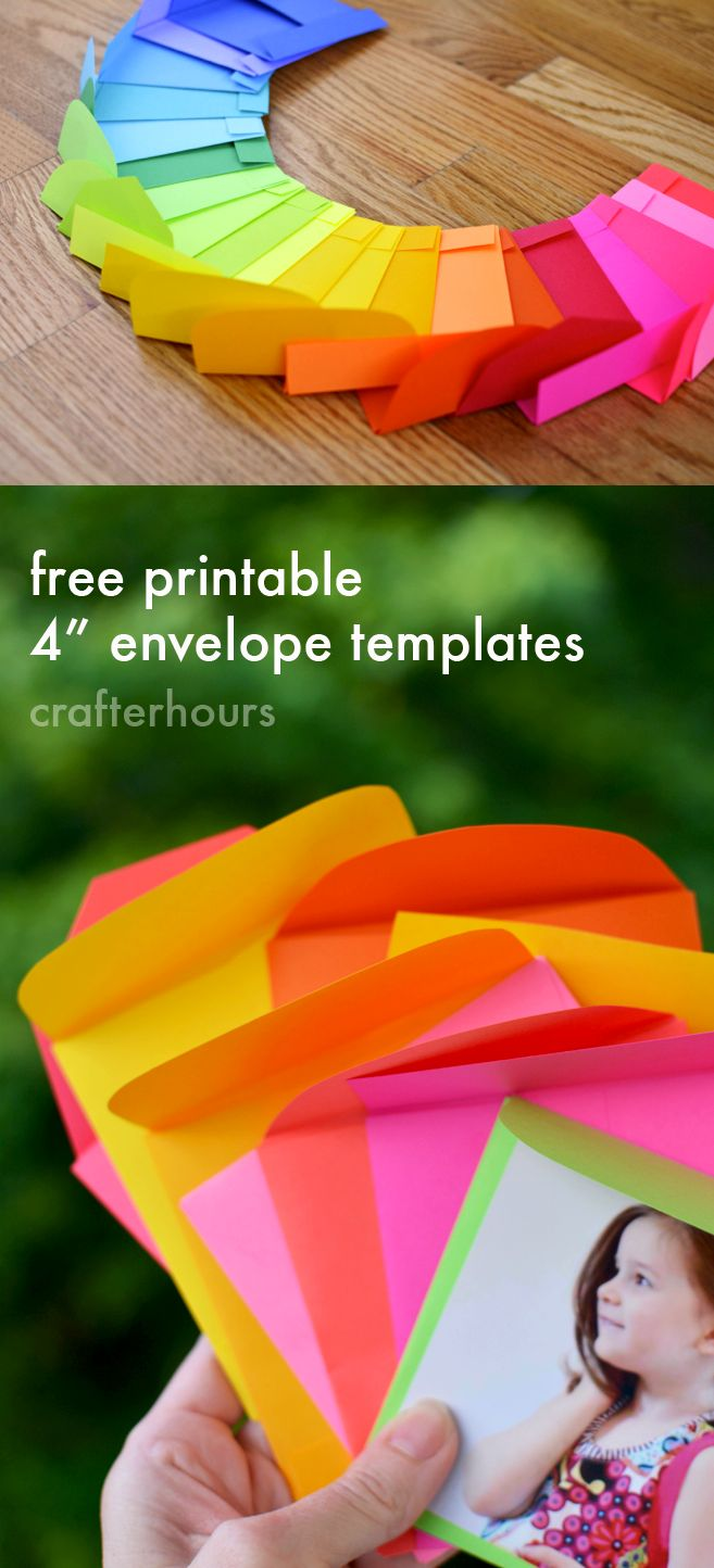"""All the Colors! Astrobrights, Free 4"""" envelope templates Printable + GIVEAWAY"""