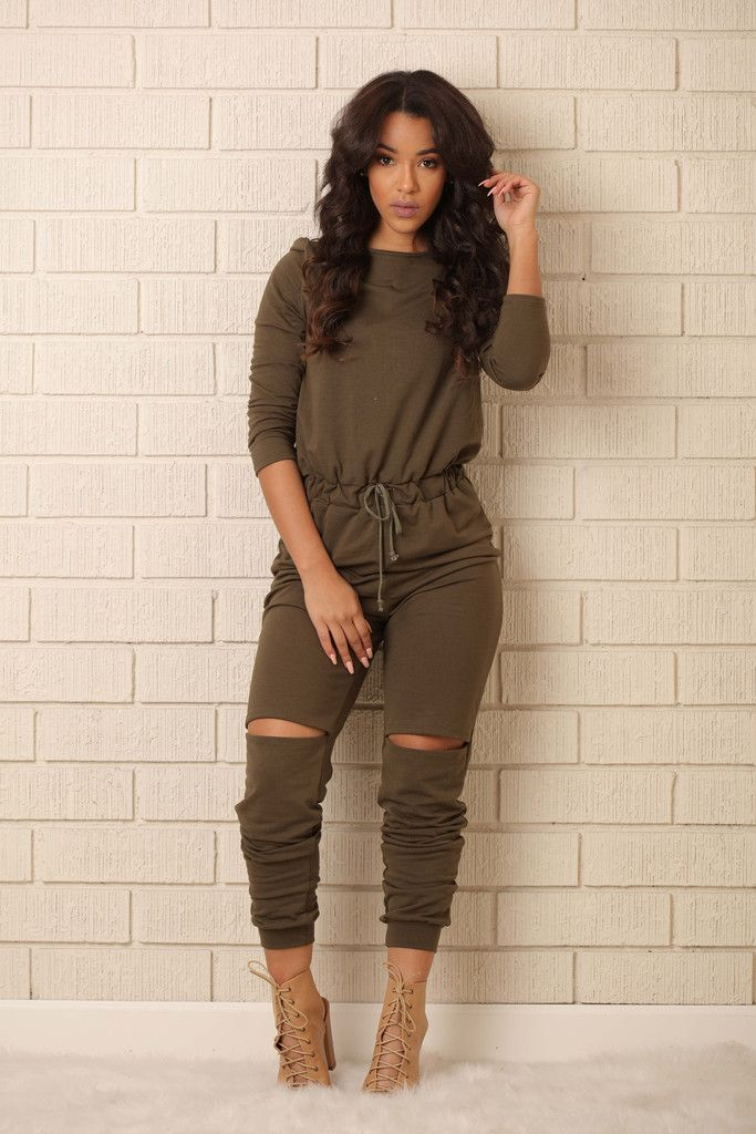On the Run Jumpsuit - Olive | Pinterest | Sleeve Grey and Pandora jewelry