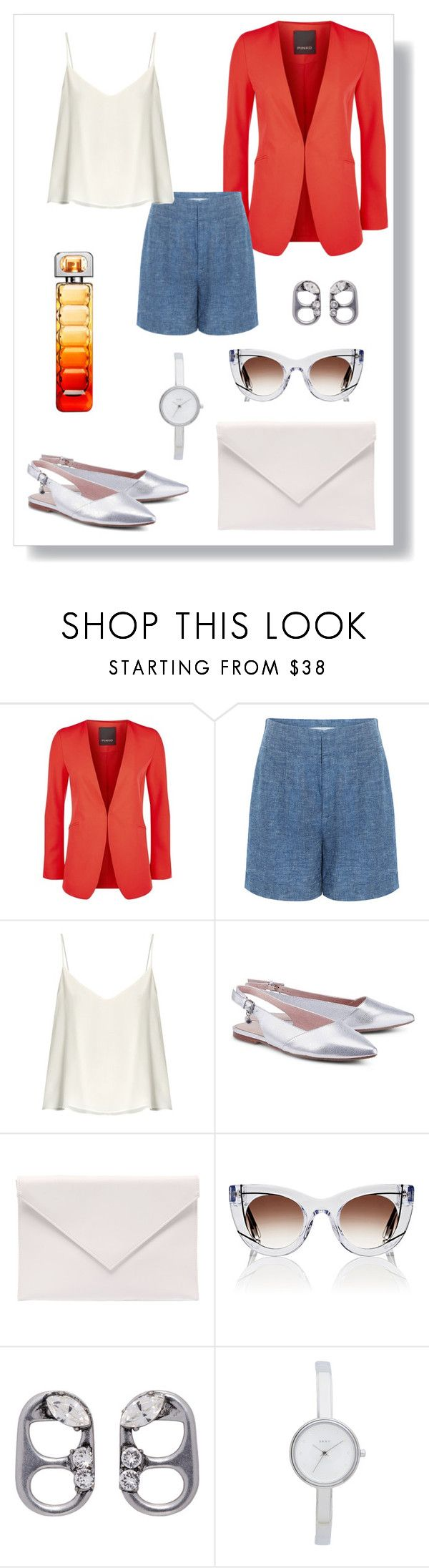 """""""№ 475"""" by tigrpuh ❤ liked on Polyvore featuring Pinko, 10 Crosby Derek Lam, Raey, Verali, Thierry Lasry, Marc Jacobs, DKNY and BOSS Orange"""