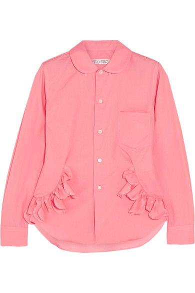 Pink cotton-poplin Button fastenings through front 100% cotton Hand wash Made in Japan